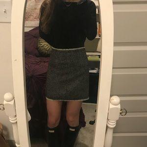 J Crew Herringbone Mini Skirt